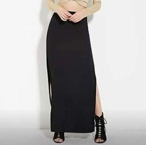 High Slit Maxi Dress (Elastic Waist Line)